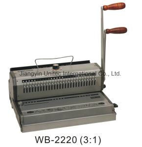 Best Selling Heavy Duty Manual A4 Wire Book Binding Machine Wb-2220/Wb-2220b pictures & photos