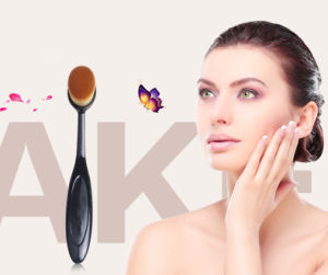Toothbrush Style Facial Cleaning Single Oval Makeup Brush pictures & photos