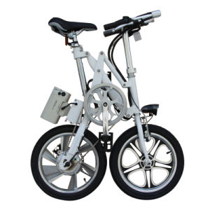 16′ ′ Folding E-Bike for Adults Small Foldable Electric Bikes pictures & photos
