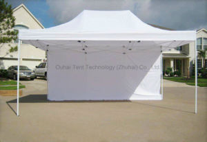 3 X 4.5m Steel Frame Folding Tent Pop up Gazebo in White Color