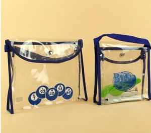 Transparent Hand-Held Buckle PVC Bags pictures & photos