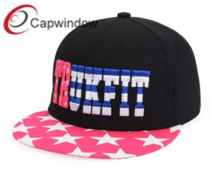 Fashion Snapback Cap with Star Printing Fabric pictures & photos
