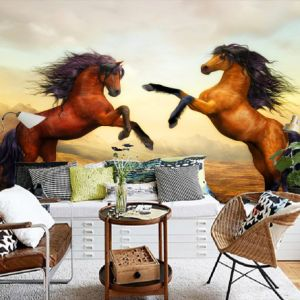 HD Horse Wall Painting Canvas Living Room Wall Decor Paper Wall Mural Wallpaper pictures & photos