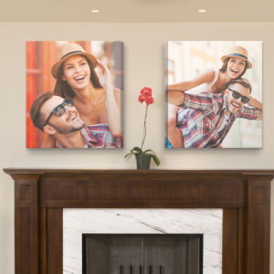 Promotional Wood Frameless Canvas on Wall for Home pictures & photos