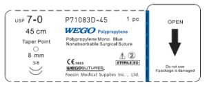 Small Size Polypropylene Sutures with Double Needles pictures & photos