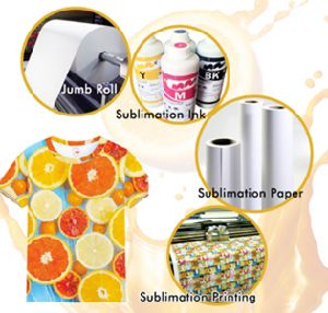 70/75/80GSM Fast Dry Sublimation Heat Transfer Paper Small Roll for Customized Clothing pictures & photos