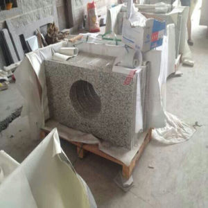 Stone Granite Countertops and Vanity Tops with Basin and Tap Holes pictures & photos