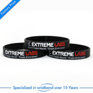 Promotional Gift Soft Enamel Silicone Wristband pictures & photos