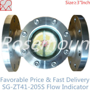 Flanged Paddle Wheel Visual Flow Indicator for Liquids pictures & photos
