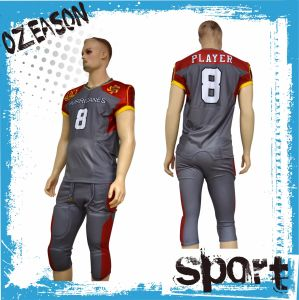 OEM Custom Wholesale Cheap Team Set American Football Uniforms pictures & photos