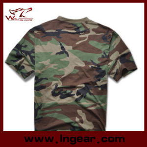 Military Tactical Fashion Camouflage Short Sleeve T-Shirt Cotton T-Shirt pictures & photos