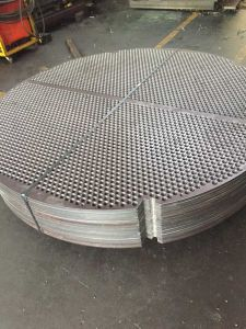 Monel 400 (UNS N04400, Alloy 400) +ASME SA516 Gr70 Gr. 70 SA-516 Gr60 Gr. 60 Explosion Welding/Bonded Metal Clad Cladded Tube Sheets Baffles Plates Tubesheets pictures & photos