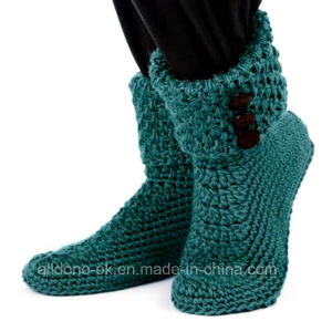 Custom Hand Crochet Boots Socks Shoes Booties Slippers Sneakers Sandals pictures & photos