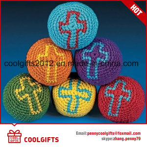 Hot Hand Made Knitted Woven Hacky Sack Kickball, Juggling Balls pictures & photos