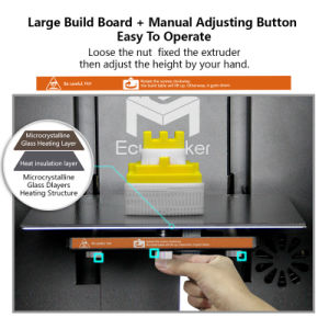 Ecubmaker Practical Best Quality 3D Printer Price with LED Display pictures & photos