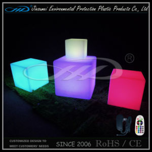 Rotational Moulding Plastic Rechargeable LED Colorful Bar Cube Furniture with BV pictures & photos