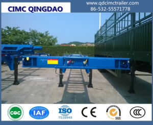 Cimc 3 Axles Container Chassis Trailer/Skeleton Trailre Chassis pictures & photos
