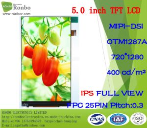"5.0"" IPS 720*1280 Mipi 25pin 400CD/M2 Capacitive Touch LCD Display pictures & photos"