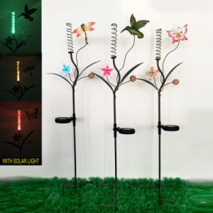 Solar Powered Garden Decoration Metal Blossom Stake Craft pictures & photos
