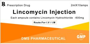 API Approved FDA Lincomycin Hydrochloride CAS No.: 859-18-7 for Injection 600mg/2ml pictures & photos