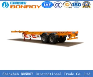 40FT 3axle Gooseneck Skeleton Container Semi Trailer with High Quality Material pictures & photos