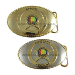 Two Tone Finishing Metal Belt Buckle