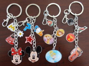Promotional Gift- Minnie Metal Key Chains Rings Customerized Design Enamel Keychains pictures & photos