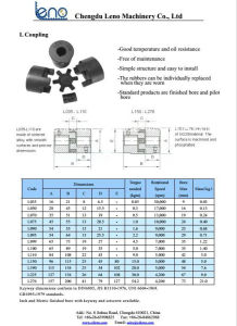 Top Selling L095 Rubber Jaw Coupling with Key Bore pictures & photos