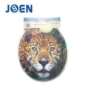 Leopard Printing Toilet Seat in Wood MDF pictures & photos