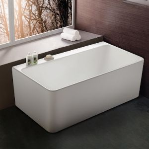 High Quality Freestanding Acrylic Bathtub with Stainless Steel Frame Support pictures & photos