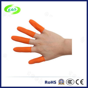 ESD Free Latex Industrial Orange Finger Cot of Skid Resistance pictures & photos