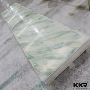 Translucent Wall Panel Green Acrylic Solid Surface Corians pictures & photos