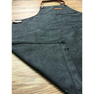 Full Length Black Canvas Cobbler Aprons with Pockets for Men pictures & photos