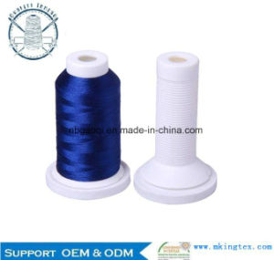 Wholesale PVC Box Packing 40/2 1000m/Cone Small Spool Price Polyester Sewing Thread pictures & photos
