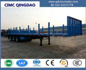 Cimc 40FT Tri-Axle Platform/Flatbed/Flat Top Truck Trailer Truck Chassis pictures & photos