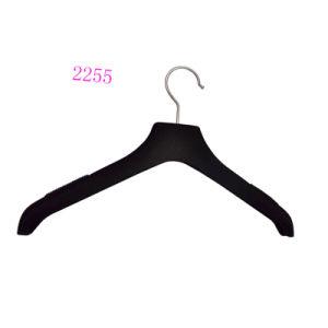 Black Sliver Stamping Logo Wedding Dress Flocking Hanger pictures & photos