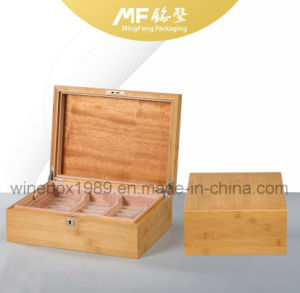 Environmental Friendly MDF Carbonized Bamboo Mahogany Cigar Gift Box pictures & photos