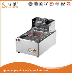 1-Tank 1-Basket Stainless Steel Electric Deep Fryer for Catering pictures & photos