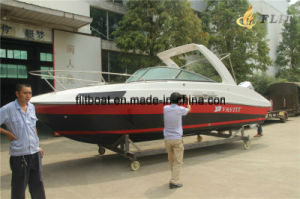 Hot Sale 7.3m 10-12 Person Half Cabin Outboard Engine Boat pictures & photos