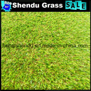 U Shape Yarn Synthetic Turf 40mm 4 Tone Grass Color pictures & photos