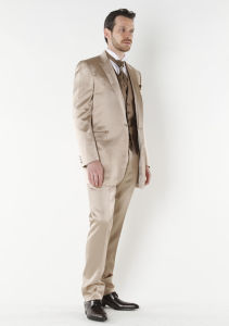 Hot Sale Groom Striped Suit & Made to Measure Business Wedding Men′s Suits