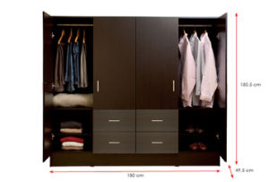 Bedroom Furniture Wooden Clothes Storage Cabinet /Wardrobe (HX-DR047) pictures & photos