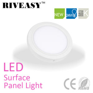 2017 Hot Sell 240VAC 24W SMD2835 Round Surface LED Panel Light pictures & photos