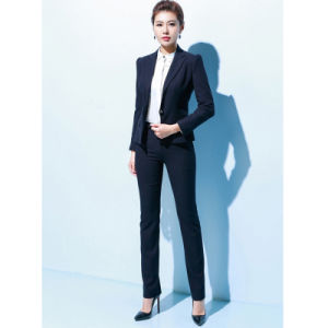 30 Wool & 70%Polyester 1 Botton Fashionable Business Ol Women′s Suits pictures & photos