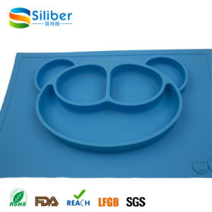 One Piece Silicone Kids Placemat, Baby Non-Slip Feeding Rubber Mat pictures & photos