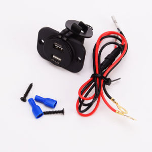 Motorcycle Dual USB Adapter Charger Cigarette Lighter Voltmeter Sockets pictures & photos