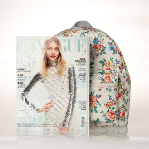 Waterproof Retro Floral Canvas Backpack Bag (23268-1) pictures & photos