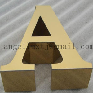 Custom 3cm Thickness 304 Brushed Finish Stainless Steel Letters Company Logo pictures & photos