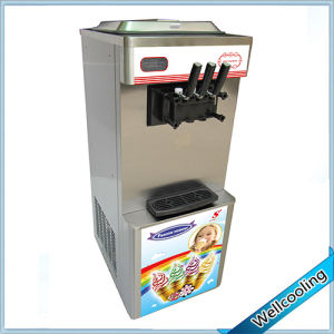 Wellcooling Stainless Steel Soft Ice Cream Machine LCD pictures & photos