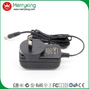 Merryking Brand Wall-Mount 12V 1A Adaptor Au Plug AC/DC Power Adapter pictures & photos